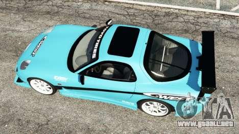 GTA 5 Mazda RX-7 C-West v0.1 vista trasera