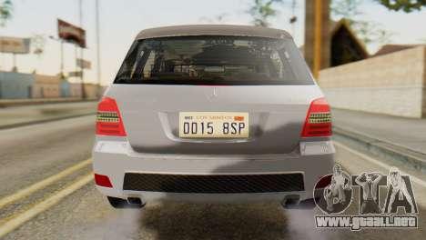 Mercedes-Benz GLK320 2012 para GTA San Andreas vista hacia atrás