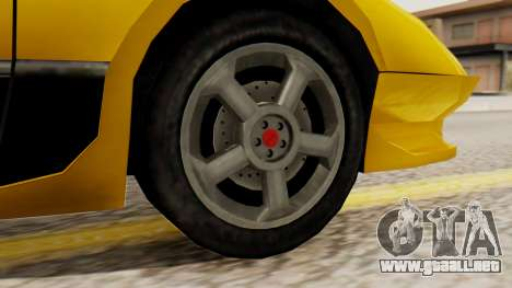 Sportcar2 SA Style para GTA San Andreas vista posterior izquierda