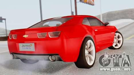 NFS Carbon Chevrolet Camaro para GTA San Andreas left