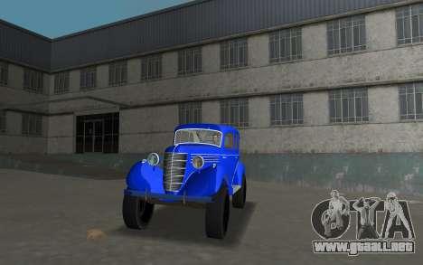 GAZ 11-73 Azul Real para GTA Vice City vista lateral izquierdo