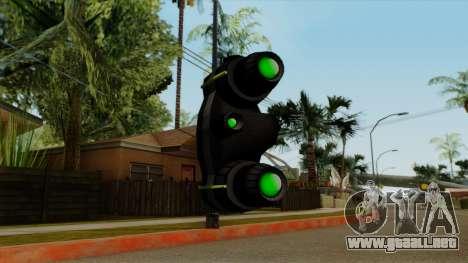 Original HD NV Goggles para GTA San Andreas tercera pantalla
