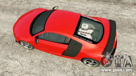 GTA 5 Audi R8 GT 2011 v0.5 [Beta] vista trasera