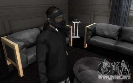 GTA5 Gasmask para GTA San Andreas segunda pantalla