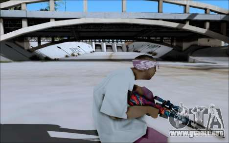 AWP Hyper Beast para GTA San Andreas sucesivamente de pantalla