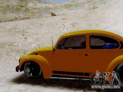 Volkswagen Escarabajo 1975 Jeans Edición Persona para GTA San Andreas interior