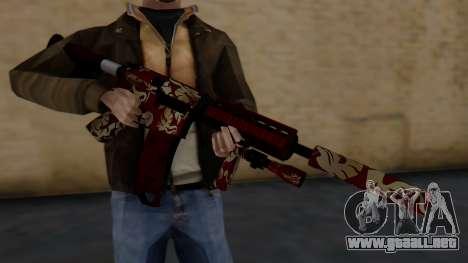 M4A1 Royal Dragon para GTA San Andreas tercera pantalla