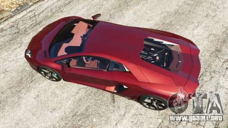 GTA 5 Lamborghini Aventador LP700-4 v0.2 vista trasera