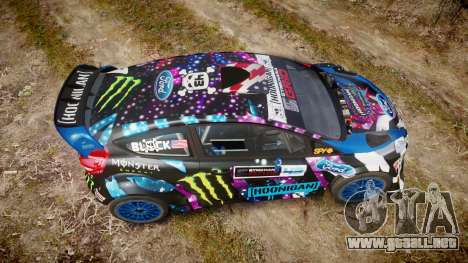 Ford Fiesta RS Ken Block 2015 para GTA 4 visión correcta