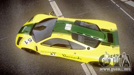 McLaren F1 1993 [EPM] Harrods para GTA 4 visión correcta