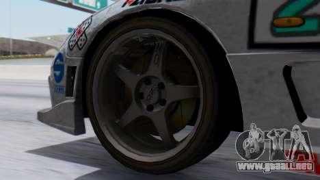 Mazda RX-7 Itasha para GTA San Andreas vista posterior izquierda