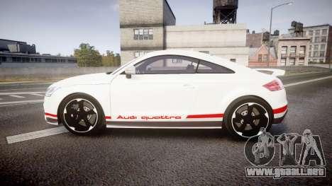 Audi TT RS 2010 Quattro para GTA 4 left