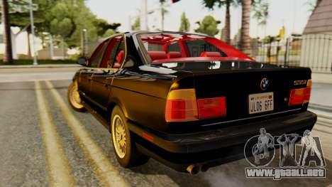 BMW 535i E34 1993 para GTA San Andreas left