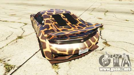 GTA 5 Dinka Jester (Racecar) Cheetah vista lateral izquierda trasera