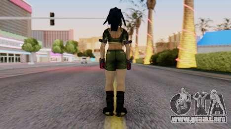 Leona from KoF Maxium Impact para GTA San Andreas tercera pantalla
