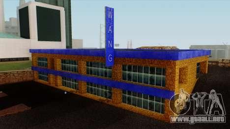 Wang Coches Showroom para GTA San Andreas segunda pantalla