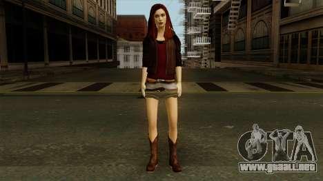 Amy Pond from Doctor Who para GTA San Andreas segunda pantalla