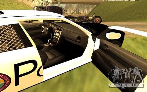 Dodge Charger Super Bee 2008 Vice City Police para GTA San Andreas vista posterior izquierda