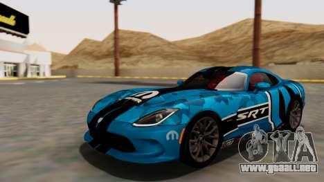 Dodge Viper SRT GTS 2013 HQLM (MQ PJ) para la vista superior GTA San Andreas