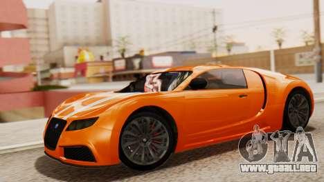 GTA 5 Adder Secondary Color para GTA San Andreas vista posterior izquierda