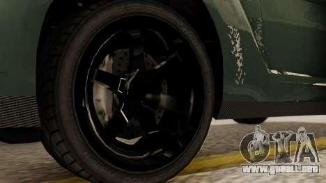 GTA 5 Annis Elegy RH8 SA Style para GTA San Andreas vista posterior izquierda