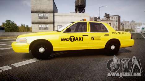 Ford Crown Victoria 2011 NYC Taxi para GTA 4 left
