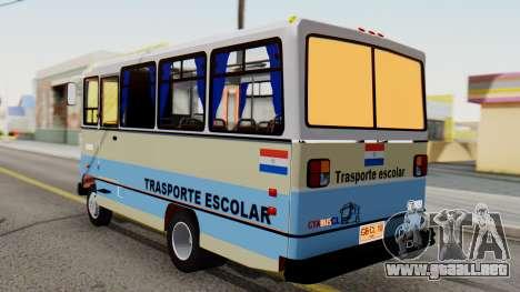 Mercedes-Benz LO-608D Paraguay School Bus para GTA San Andreas left