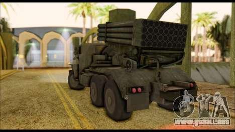 BM-21 Grad CoD MW para GTA San Andreas left