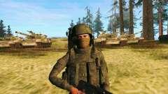 Pak combatientes de las tropas especiales del GR