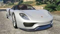 Porsche 918 Spyder para GTA 5