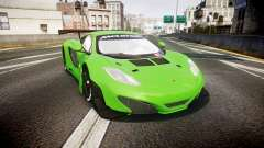 McLaren MP4-12C GT3 blank liveries para GTA 4