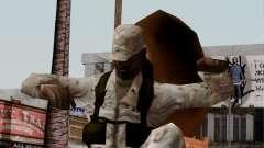 El African American soldier Multicam para GTA San Andreas
