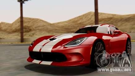 Dodge Viper SRT GTS 2013 HQLM (MQ PJ) para GTA San Andreas