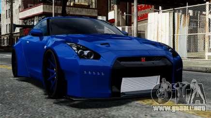 Nissan GT-R R35 Liberty Walk para GTA 4
