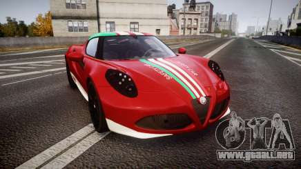 Alfa Romeo 4C 2014 SBK Safety Car para GTA 4