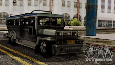 Milwaukee Motors Custom Jeepney para GTA San Andreas
