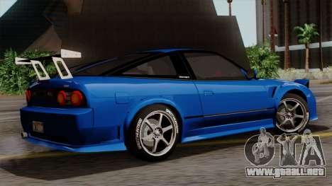 Nissan 180SX Street para visión interna GTA San Andreas
