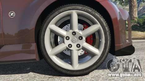 GTA 5 Nissan 350Z vista lateral trasera derecha
