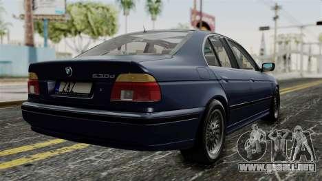 BMW 530D E39 1999 Stock para GTA San Andreas left