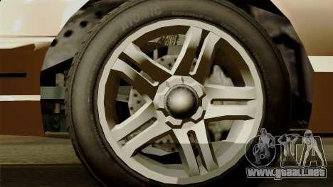 GTA 5 Vapid Stanier I para GTA San Andreas vista posterior izquierda
