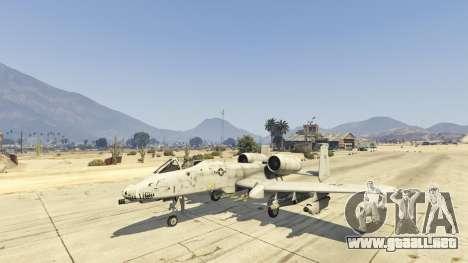 GTA 5 A-10A Thunderbolt II 1.1 tercera captura de pantalla