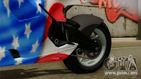 Bati America Motorcycle para la visión correcta GTA San Andreas