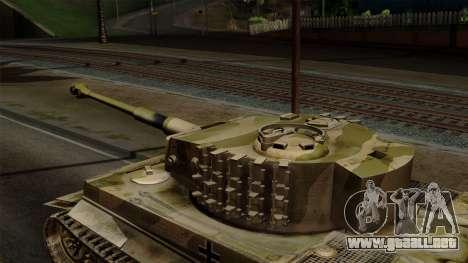 Panzerkampfwagen VI Ausf. E Tiger No Interior para la visión correcta GTA San Andreas