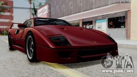 Ferrari F40 1987 with Up Lights IVF para GTA San Andreas