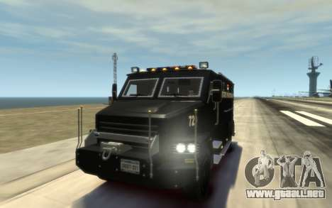 International 4000-Series SWAT Van para GTA 4 vista lateral