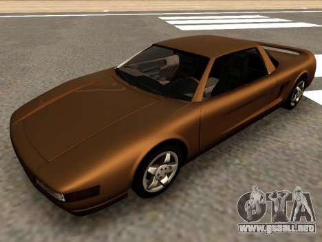 Infernus PFR v1.0 final para GTA San Andreas vista posterior izquierda