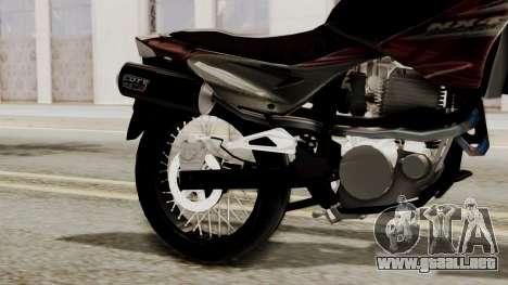 Honda NX400 Falcon para la visión correcta GTA San Andreas