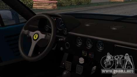 Ferrari F40 1987 with Up without Bonnet HQLM para la visión correcta GTA San Andreas