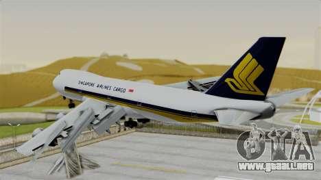 Boeing 747 Singapore Cargo para GTA San Andreas left
