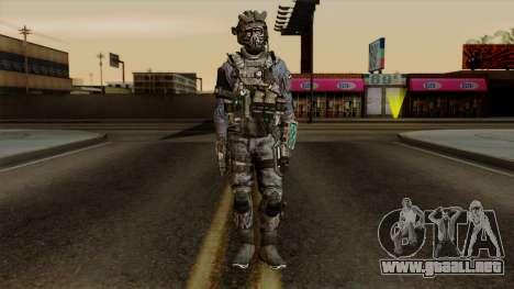 CoD Custom Ghost Retextured para GTA San Andreas segunda pantalla